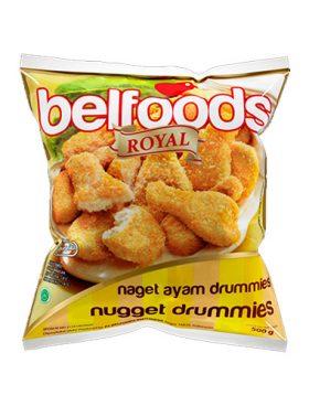 Belfoods Frozen Nugget Ayam Drummies 500g
