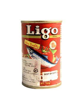 Ligo Sarden Saus Tomat dan Cabe 155g Merah