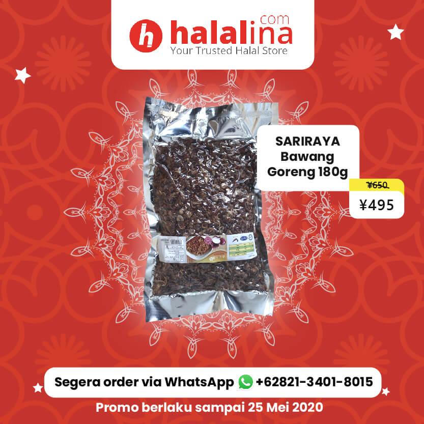 Promo Ramadhan Halalina - Sariraya Bawang Goreng 180g