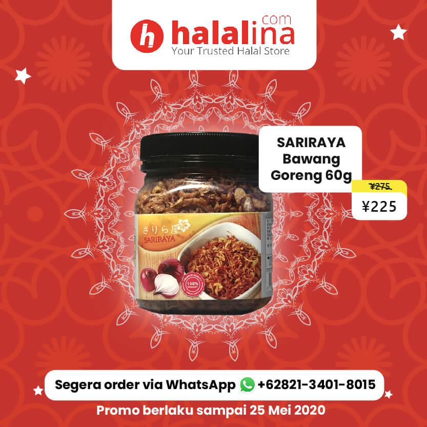Promo Ramadhan Halalina - Sariraya Bawang Goreng 60g