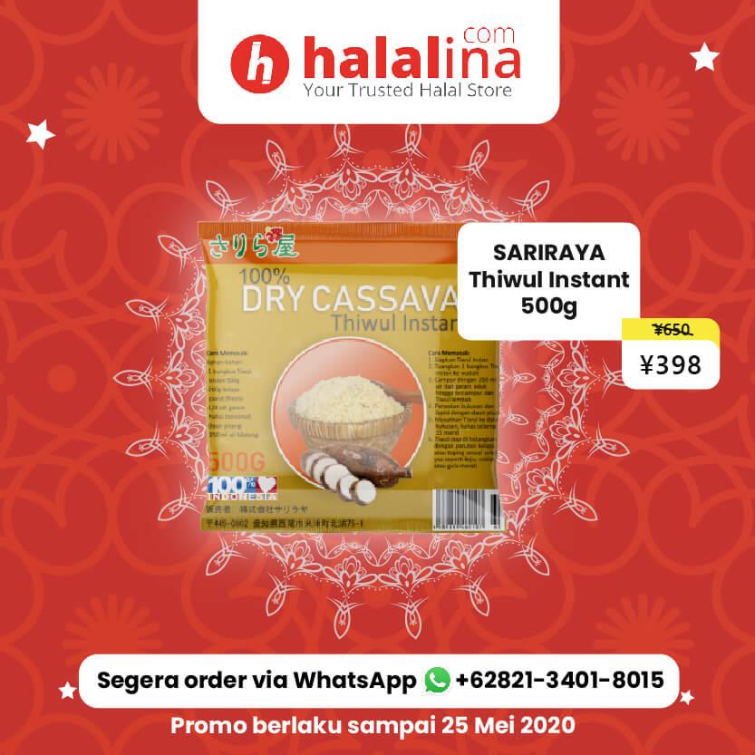 Promo Ramadhan Halalina - Sariraya Thiwul Instant