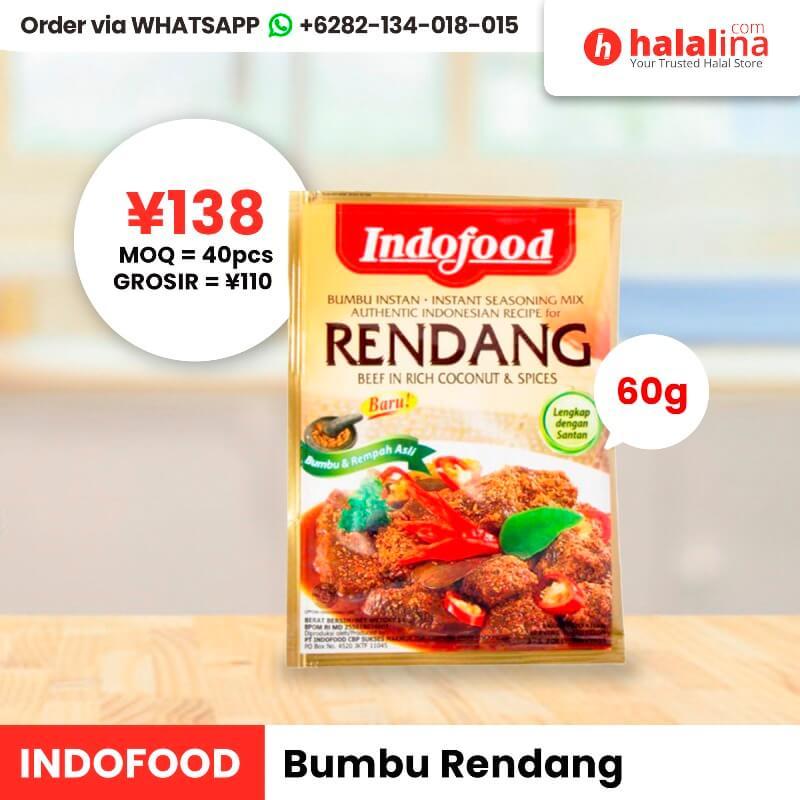 Halalina Grosir - Indofood Instant Seasoning Rendang 60g