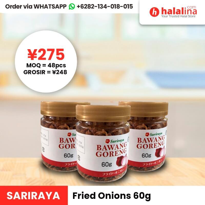 Halalina Grosir - Sariraya Fried Onions 60g