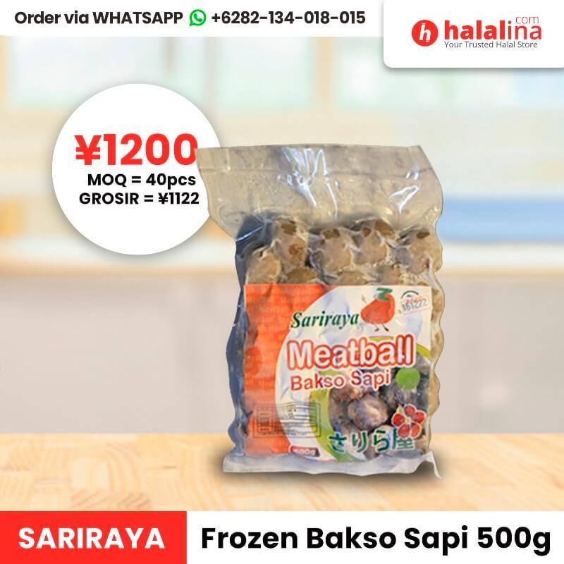 Halalina Grosir - Sariraya Frozen Bakso Sapi 500g