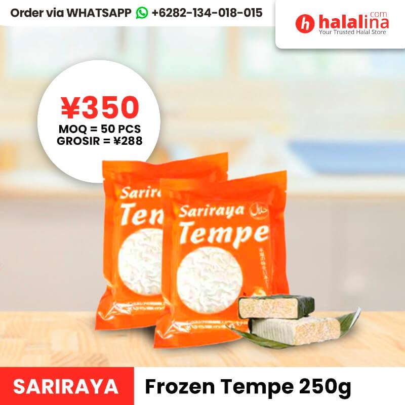 Halalina Grosir - Sariraya Frozen Tempe 250g