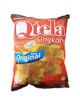 Qtela Keripik Singkong Rasa Original 60g